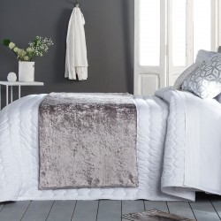 Plaid pie de cama VELVET