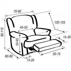 Funda de sillón Relax Super Elástica NIAGARA